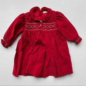 Petit Ami | Baby Girl Embroidered Smocked Dress